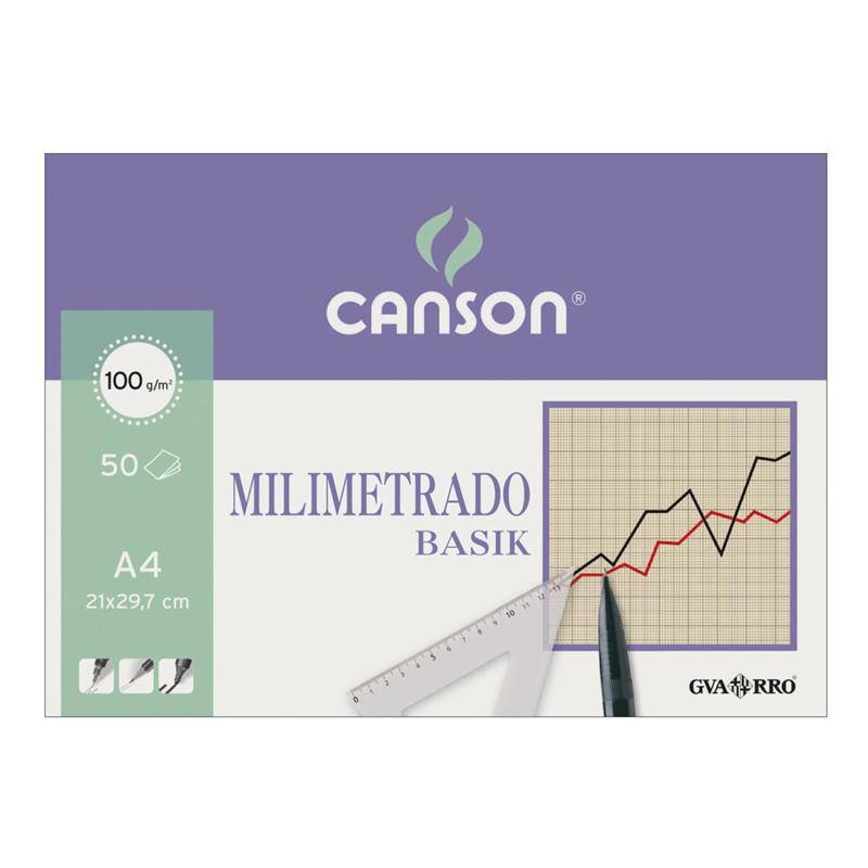 BLOCK CANSON MILIMETRADO A4 50H 100GR