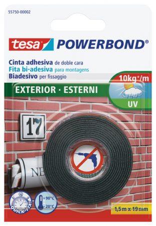 Cinta adhesiva de doble cara Tesa powerband 19 mm x 1,5m exterior