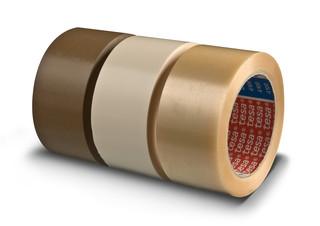 CINTA DE EMBALAJE MARRON TESA PVC EXTRA FUERTE RUGOSO 66X50 M