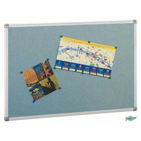 Tablero de corcho tapizado en azul con marco de aluminio de 90 x 120 cm Faibo
