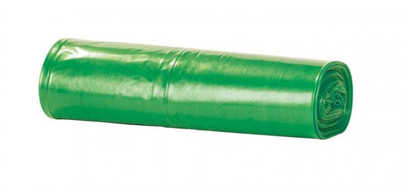 ROLLO 25 BOLSAS BASURA 57x55 CM GALGA 65 VERDE