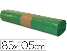 ROLLO 10 BOLSA BASURA 85x105 CM GALGA 80 VERDE
