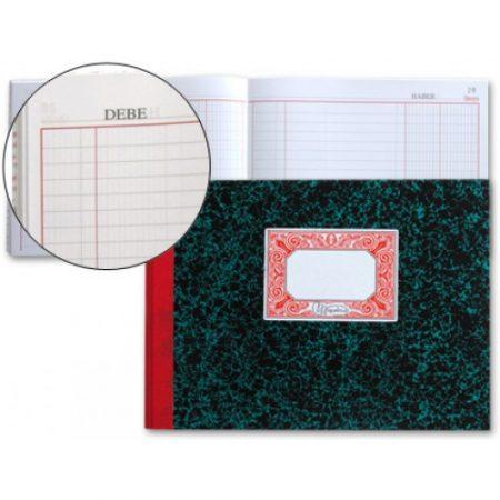 Libro Cartone 4º 100 hojas CAJA apaisado DEBE HABER