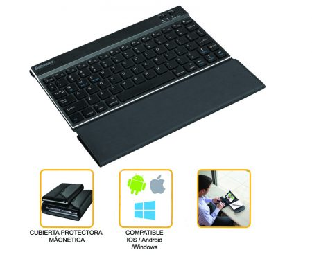 MINI TECLADO BLUETOOTH® CON FUNDA INCORPORADA FELLOWES