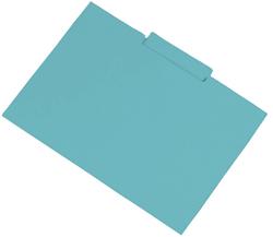 Pack de 50 subcarpetas Fº azul con pestaña central