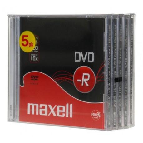 PACK 5 DVD-R MAXELL 4,7GB 16x