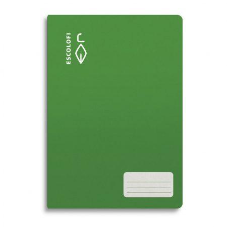 Libreta ESCOLOFI 4º PAUTA 3 C/Márgen 32H Verde