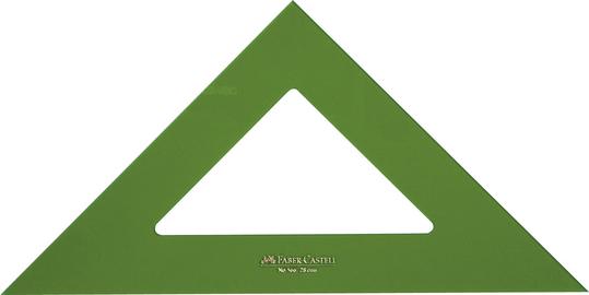 Escuadra verde sin graduar 25 cm 101-25ev