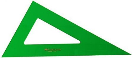 Cartabon verde sin graduar 25 cm 101-25cv