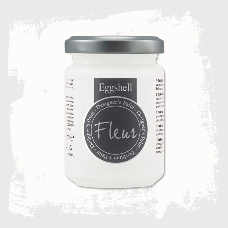 Pintura eggshell de Fleur 130 ml Titanium White