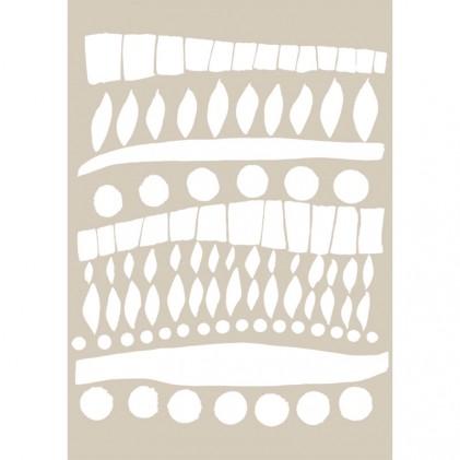 Stencil de Fleur 21 x 29,7 cm Tribal Details