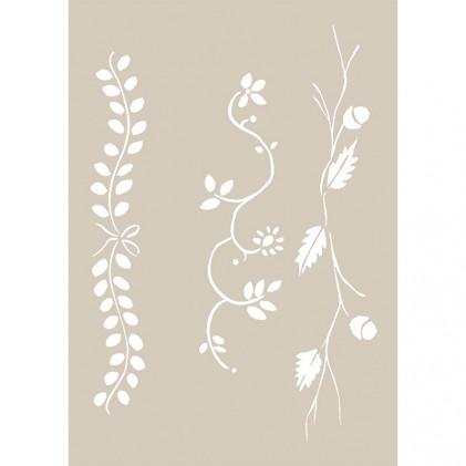 Stencil de Fleur 21 x 29,7 cm Seasonal Garlands