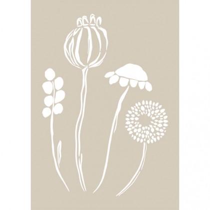Stencil de Fleur 21 x 29,7 cm Blossom