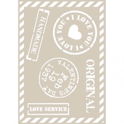 Stencil de Fleur 21 x 29,7 cm Stamps