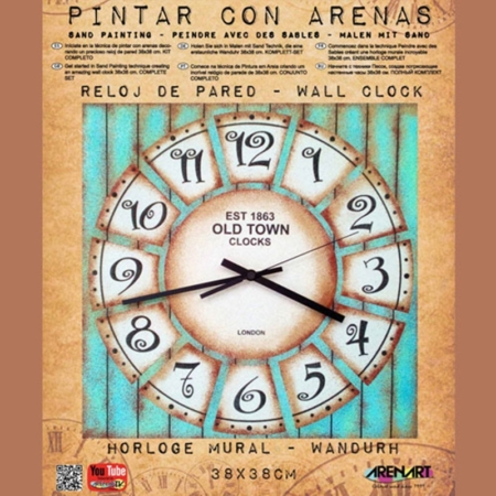 KIT RELOJ DE PARED PARA PINTAR CON ARENA OLDTOWN 1863 38 CM