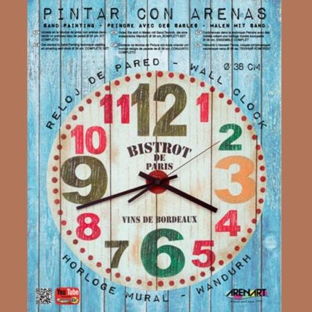 KIT RELOJ DE PARED PARA PINTAR CON ARENA BISTROT PARIS 38 CM