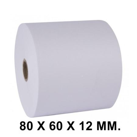 PAQUETE DE 8 ROLLOS DE PAPEL TÉRMICO SIN BPA 80 X 60 X 12 MM.