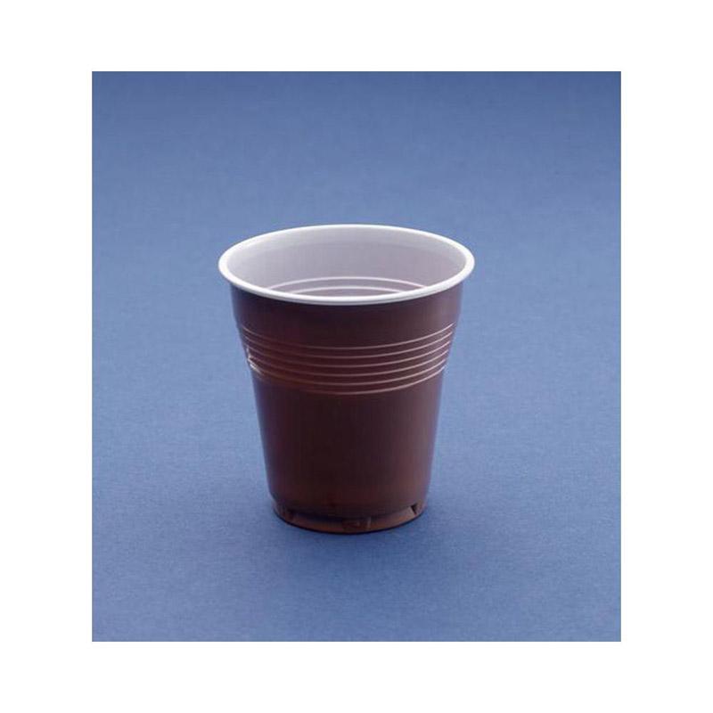 BOLSA DE 50 VASOS POLIPROPILENO CAFE 100 cc.