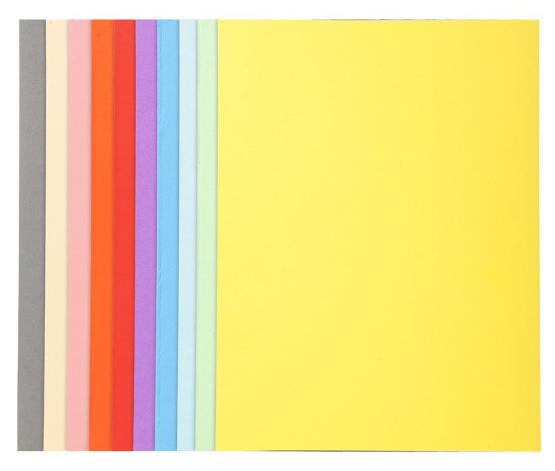 Caja de 100 Subcarpetas cartulina Fº 180 gr. Foldyne colores surtidos