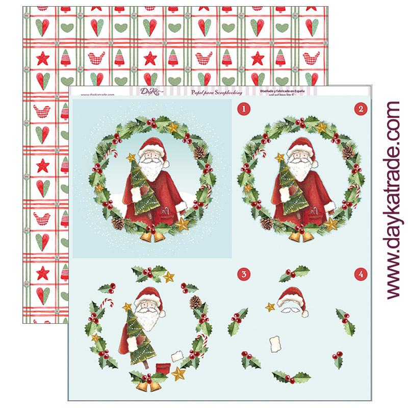 """PAPEL SCRAP SCP-280 """"Feliz Navidad"""""""