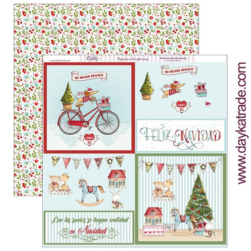 """PAPEL SCRAP SCP-282 """"Feliz Navidad"""""""