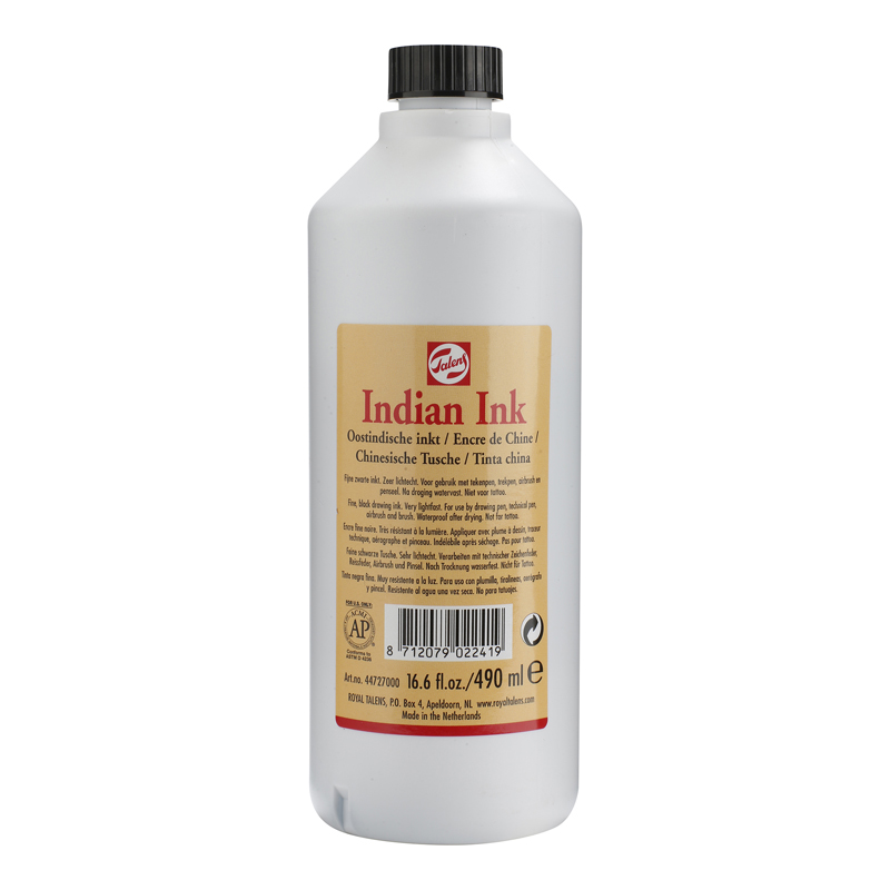 TINTA CHINA 490ML NEGRO TALENS