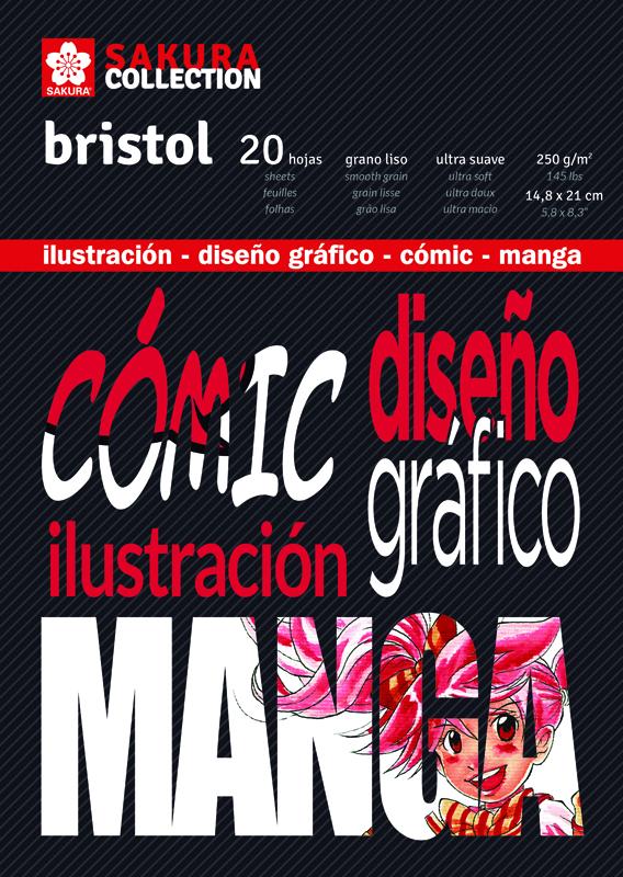 BLOC BRISTOL PARA COMIC Y MANGA A5 SAKURA