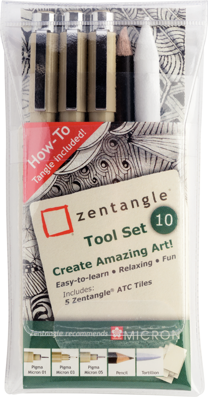 ZENTANGLE SET 10 PIEZAS