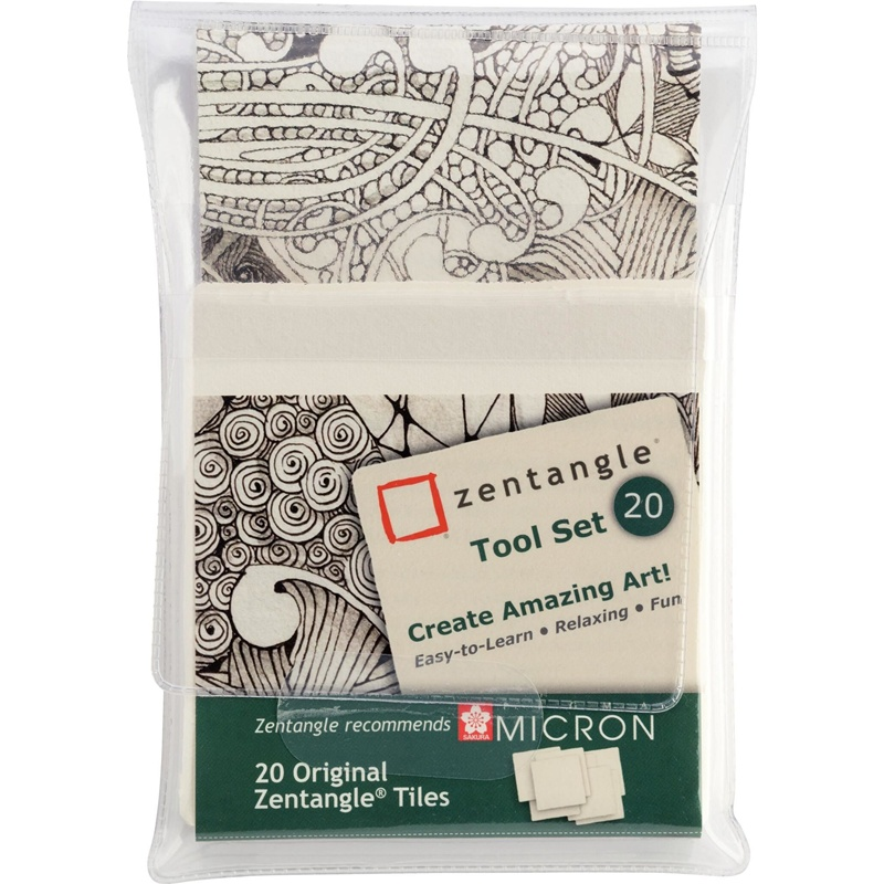 SET 20 PAPELES BLANCOS ZENTANGLE SAKURA