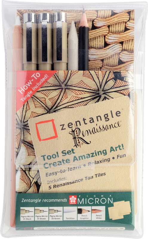 SET 6 ZENTANGLE RENAISSANCE TOOL SAKURA
