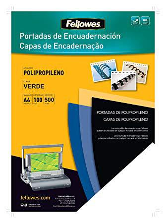 P/100 Tapas Polipropileno A4 500µ VERDE OPACO
