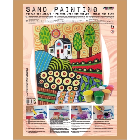 SAND PAINT PAISAJE NAIF ORANGE