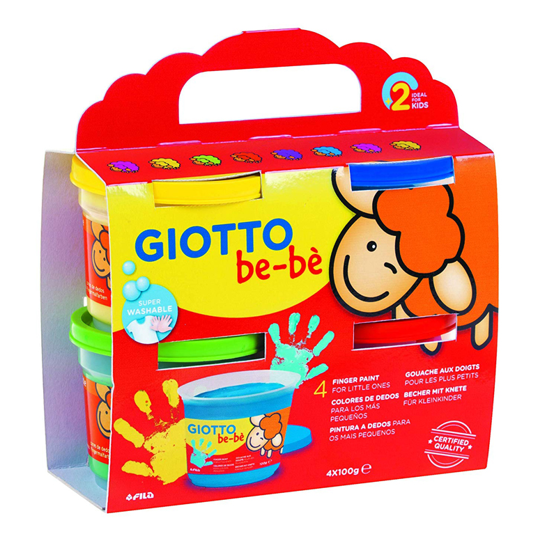 PACK 4 PINTURA DEDOS GIOTTO BE-BE 150G