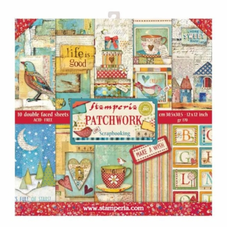 PACK 10 PAPEL SCRAP 30.5 x 30.5 CM PATCHWORK
