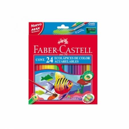 CAJA 24 ECOLAPIZ ACUARELABLE COLORES FABER CASTELL