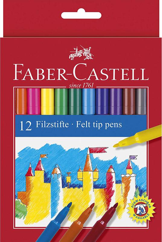 CAJA 12 ROTULADORES COLOR FABER CASTELL