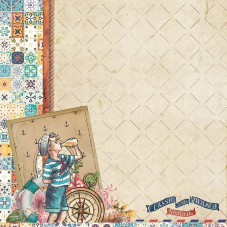 "PAPEL SCRAP ""SAILOR"" VINTAGE ODISSEY"