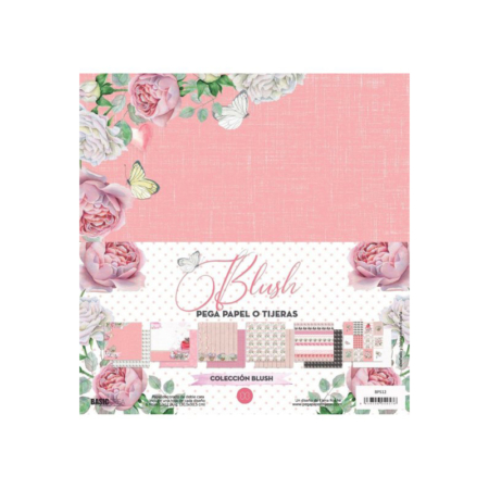 KIT 6 PAPELES SCRAP ELENA ROCHE BLUSH
