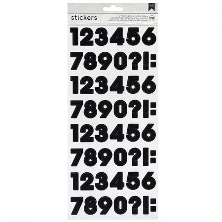BOLSA DE 208PEGATINAS ALFABETO NUMBER STICKERS BLACK 3466