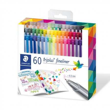 ESTUCHE 60 ROTULADORES COLOR TRIPLUS FINELINER