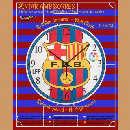 KIT RELOJ PINTADO C/ARENA 38CM FC.BARCELONA