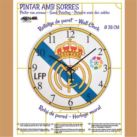 KIT RELOJ PINTADO C/ARENA 38CM REAL MADRID