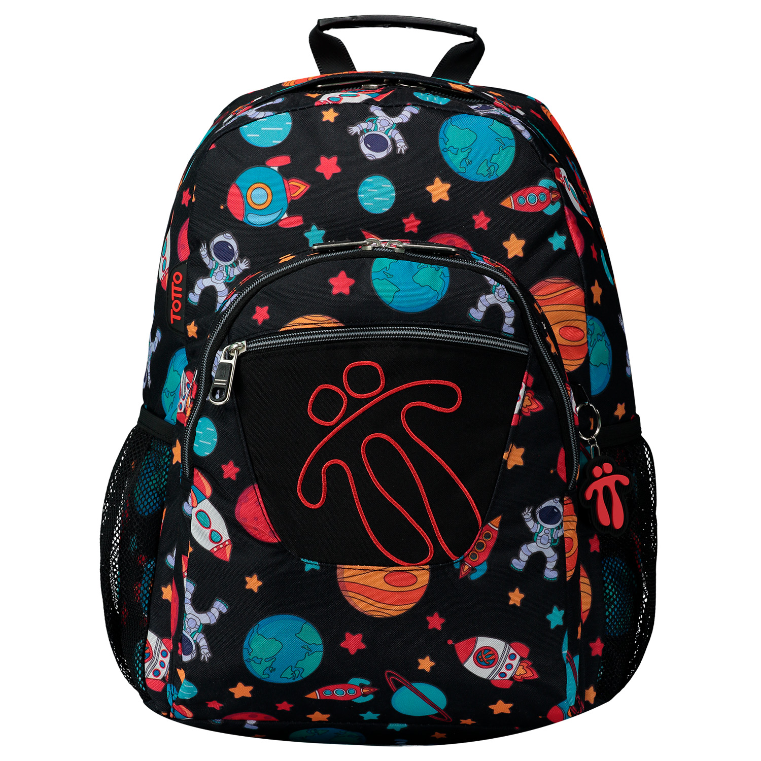 Mochila escolar adaptable a carro estampado spacey