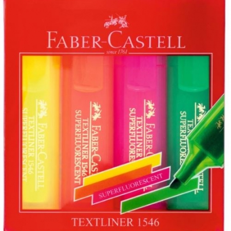 PACK 4 ROTULADORES FLUORESCENTE FABER