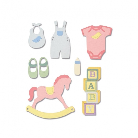 SET 12 TROQUEL THINLITS NEW BABY 2 BY LISA JONES E