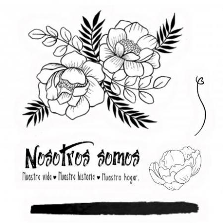 "SELLOS SILICONA ""PEONiAS"" MANOLI NAVARRO BMNS02"