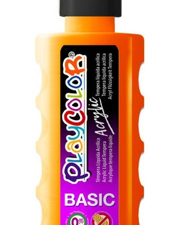 BOTE PINTURA DEDOS PLAYCOLOR 250ML NARANJA