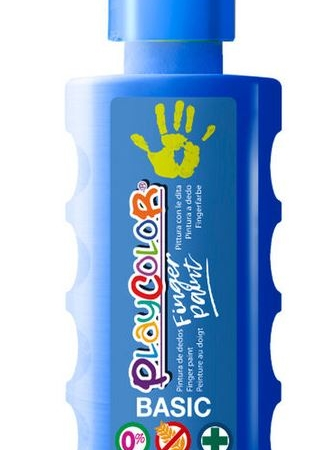 BOTE PINTURA DEDOS PLAYCOLOR 250ML AZUL