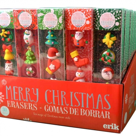 SET 6 GOMAS DE BORRAR CHRISTMAS