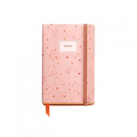 CUADERNO 90X140 LISO LOGBOOK CONSTELACION ROSE GREY 1147